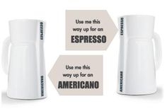 Two types of coffee, one mug!