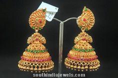 22K Gold Antique Jhumka from Suraj Bhan Jewellery