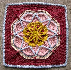 Ravelry: dakotastamper's Spiro Star  Afghan Square / Block - Free Crochet Pattern