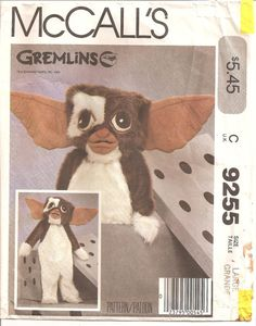 Nothing says fun like a depressed looking Gizmo costume. Also is the giant box included? | 18 Creepy And Awful Vintage Halloween Sewing Patterns
