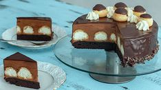 Profiterole Cake :: Home Cooking Adventure Chocolate Cheese, Chocolate Glaze, Chocolate Orange, Profiteroles, Cream Cheese Filling, Cream Cheese Frosting, Raspberry Mousse Cake, Cocoa Brownies, Impressive Desserts