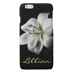 Pure White Lily iPhone 6 case *personalize*