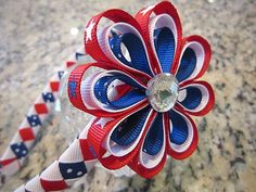 Memorial Day 4th of July Hair Bow by connorkj on Etsy, $5.00