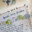 Bild ELEFANTENPARADE <3 ganz viele Elefanten :) Eignet sich sehr schön zur Geburt mit Namen und persönlichen Daten des Babys  UNIKAT  incl. Rahmen und Passepartout   ❤️alle meine...