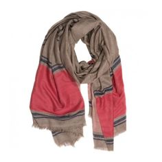 Maiyet Blackberry Stripe Cashmere Scarf ($450) ❤ liked on Polyvore