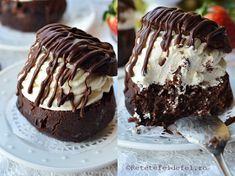 In week-end, am vrut sa-i surprind pe ai mei cu aceste savarine cu ciocolata … Cream Filled Cupcakes, Pavlova, Something Sweet, International Recipes, Love Food, Muffin, Sweets, Cookies, Breakfast