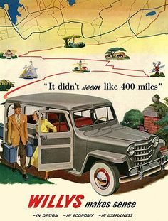 1950 Willys - Promotional Advertising Poster