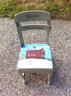 Snow covered house chair