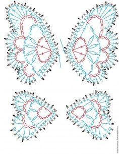 Patrones para hacer mariposas tejidas a crochet Ideas de Manualidades