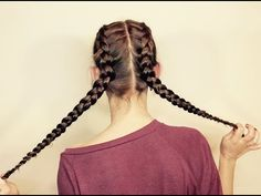 Dos trenzas de raíz a los lados / Dues trenes d'arrel als costats / Side french braids - YouTube