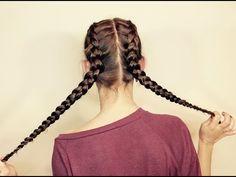 Dos trenzas de raíz a los lados / Dues trenes d'arrel als costats / Side french braids - YouTube