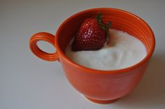 Yummy homemade yoghurt. Heat milk to 85 degrees celcius before cooling to 43 degrees and add yoghurt culture. It is a pretty forgiving recipe and easier than you think :)
