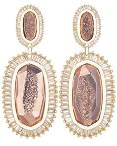 Kaki Earrings in Rose Gold Drusy