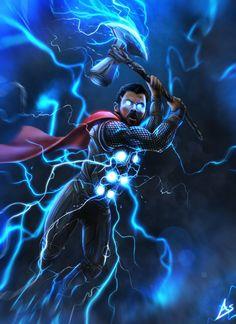 Drawing Marvel Thor and Storm Breaker (Infinity War) Poster Marvel, Poster Superman, Posters Batman, Marvel Dc Comics, Marvel Heroes, Marvel Characters, Marvel Avengers, Batman Vs, Spiderman