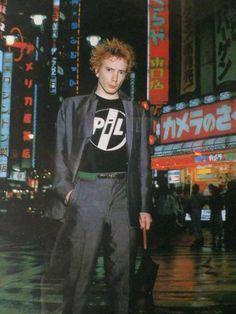 Lydon of Sex Pistols and Public Image Ltd. in a Public Image Ltd. t-shirtJohn Lydon of Sex Pistols and Public Image Ltd. in a Public Image Ltd. t-shirt Johnny Rotten, Rock Roll, Obsessed Girlfriend, British Punk, The New Wave, Punk Goth, The Clash, Thing 1, Post Punk