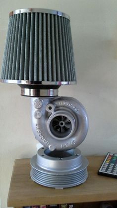 turbocharger lamp, mancave, office, steam punk, up cycle, engine lamp, Xmas gift | eBay