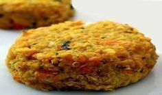 Lentil and carrot burgers - The lentil and carrot burgers represent a healthy option to enter a low-calorie diet and eliminate - Raw Food Recipes, Vegetable Recipes, Low Carb Recipes, Vegetarian Recipes, Cooking Recipes, Healthy Recipes, Good Food, Yummy Food, Tasty