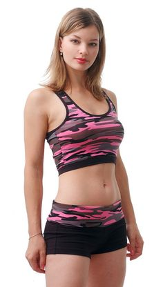 Similar to our style #473, this yoga shorts has a camouflage folding waistband  #style http://www.miamistyle.com/