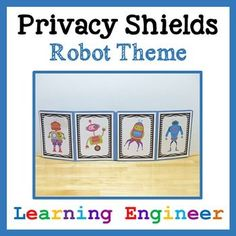 These privacy shields are for those times when you need a quiet classroom. They cut down on distractions and help kids focus on their work. Sometimes the whole classroom will be using them or they can be available for kids to choose when they want to use them. This helps kids take responsibility for their own behavior and sends a message to those around them to stop distracting them so they can do their work. These shields have been student tested and teacher approved! $