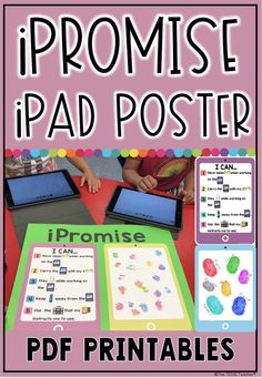 Establish classroom rules and expectations for using iPads with elementary students with this iPromi Classroom Expectations, Classroom Rules, Classroom Decor, Technology Posters, Educational Technology, Teaching Technology, Ipad Rules, I Can Statements, Mobile Learning