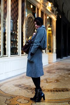 Style inspiration winter coat and boots