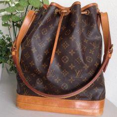 Authentic LOUIS VUITTON Noe GM Drawstring Shoulder Bag Monogram Leather  AR1914 77959742fe1