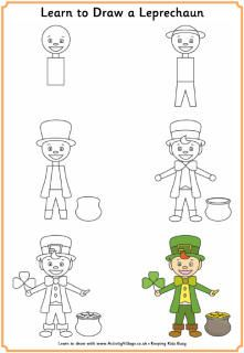 Learn to draw a leprechaun