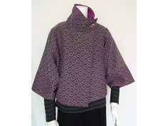 着物リメイク ウール系ジャカードジャケット