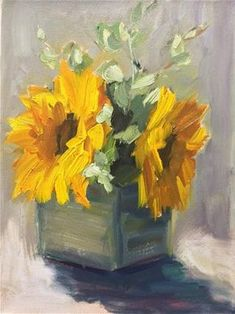 "Daily Paintworks - ""Sun Flowers"" - Original Fine Art for Sale - © Naomi Bautista Watercolor Flowers, Watercolor Paintings, Sunflower Art, Fine Art Gallery, Sun Flowers, Illustration, Florals, Ideas, Crafty"