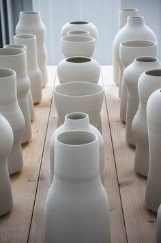 Handmade Danish ceramics from Tortus Copenhagen. Love the form