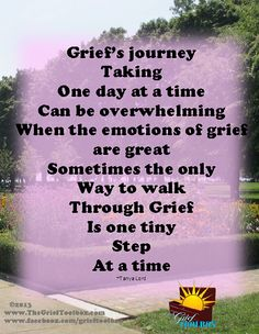 One step at a time | The Grief Toolbox