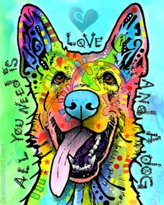 Image of LOVE AND A DOG Print