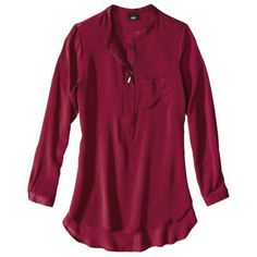 Mossimo® Womens Long Sleeve Solid Tunic Top - Assorted Colors