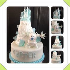 Disney Frozen cake made for a boy who requested Marshmallow the snow monster be featured   www.facebook.com/cakeitorleaveitcakesbymarianne