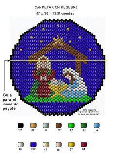 Con el fin de que puedan tener un recuerdo navideño en punto peyote,acá les dejo dos esquemas que bien pueden usarlos como carpetas o si prefieren, los pueden montar sobre un retablo para que los …