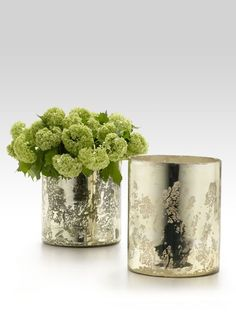 Antique Light Gold Vases