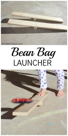 DIY Bean Bag Launcher DIY Bean Bag Launcher from Preschool Inspirations. This is a great gross motor activity or a perfect outdoor activity. Physical Education Activities, Gross Motor Activities, Outdoor Activities For Kids, Outdoor Learning, Gross Motor Skills, Outdoor Education, Stem Activities, Learning Activities, Outdoor Play