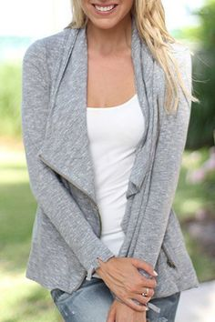 Stylish Long Sleeve Solid Color Turn-Down Collar Jacket For WomenJackets | RoseGal.com