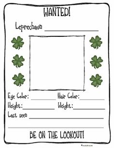 "St. Patrick's Day - ""Be On the Lookout"" for Leprechauns"