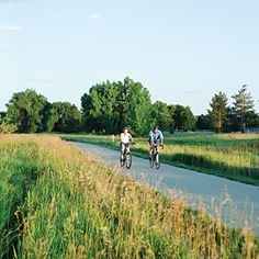 Tooling along the 10-mile Poudre River Trail is a rite of spring in the bike-crazed town of Fort Collins