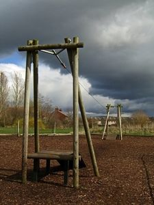 How to for creating a playground border with landscape timber.