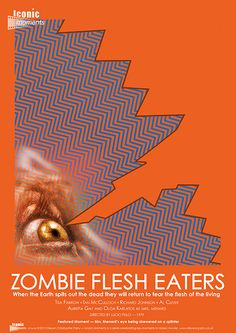 Zombie Flesh Eaters Movie Poster for Iconic Moments  - Created by Steven Parry - www.stevenparry.net