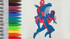Spiderman 2099 2020 Coloring Book Page Spiderman Sailany Coloring Kids Coloring Books Spiderman Coloring Book Pages