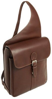 Men's leather sling bag Colours : black, dark brown, brown ...