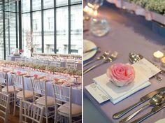 pink and purple wedding table decor - Gardiner Museum Real Wedding Purple Wedding Tables, Pink Purple Wedding, Wedding Styles, Wedding Photos, Museum Wedding, Plate Sets, Wedding Inspiration, Wedding Ideas, Real Weddings