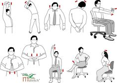 Here are some great office stretches to help relax tense muscles at work.