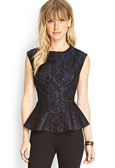 Luxe Lace Peplum Top | FOREVER 21 - 2000074632