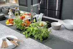 Cook up a storm using your favourite ingredients Kitchen Furniture, Kitchen Interior, Kitchen Design, Kitchen Display, Kitchen Store, Custom Kitchens, Cool Kitchens, Schmidt, Made To Measure Wardrobes
