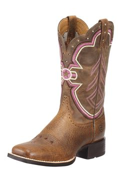 Ariat Freedom Brown Pink Women's Cowboy Boots