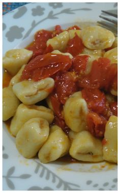 Ham and scamorza stuffed gnocchi! Tortellini, Pasta Recipes, Cooking Recipes, Healthy Recipes, A Food, Food And Drink, Kenwood Cooking, Homemade Pasta, Pizza